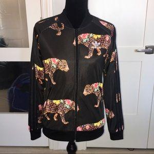 Flower Leopard Adidas Track Jacket 🐆💐